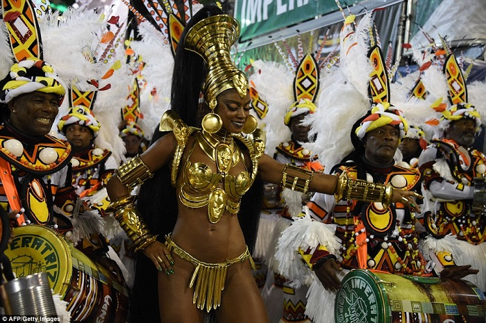 """""""This year, as always, Rio de Janeiro's Carnival last night ended as glittering as he should. Blaring music and scantily-clad dancers at the Sambadrome impressed the visitors."""" Brazilian Carnival The best of Brazilian Carnival 2015 The best of Brazilian Carnival 2015 performances i lobo you19"""