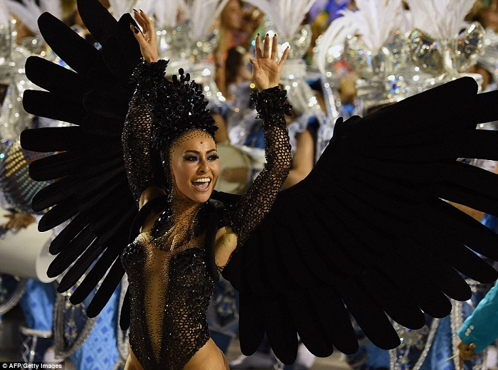 """""""This year, as always, Rio de Janeiro's Carnival last night ended as glittering as he should. Blaring music and scantily-clad dancers at the Sambadrome impressed the visitors."""" Brazilian Carnival The best of Brazilian Carnival 2015 The best of Brazilian Carnival 2015 performances i lobo you5"""