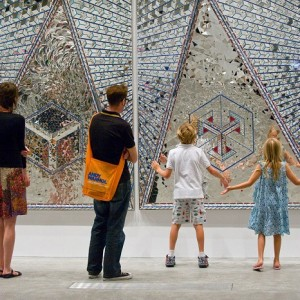 """""""From 13 March to 3 June 2015, you will be able to visit Iranian artist Monir Shahroudy Farmanfarmaian exhibition at the New York Guggnheim Museum."""""""