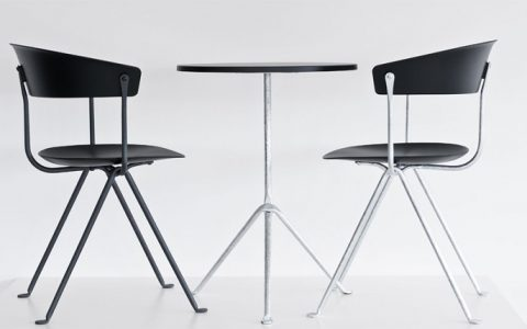 """""""For Milan Design week 2015, Ronan & Erwan Bouroullec expands their collection with a chair and stool for Magis"""""""