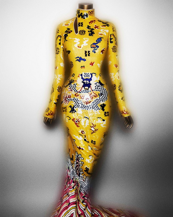 """""""China: Through the Looking Glass""""  Met's New Exhibition  """"China: Through the Looking Glass""""  Met's New Exhibition china 20 evening dress tom ford for yves saint laurent fall 2004"""