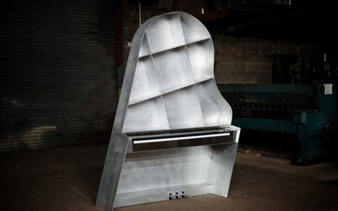 """NY designer Maciej Markowicz will be presenting first time in ICFF 2015 the Leaning Piano."""