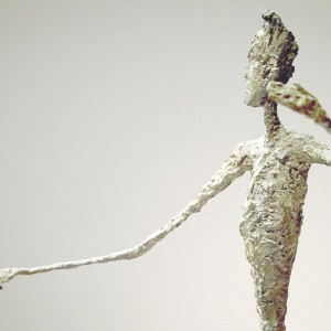 """""""The most expensive sculpture sold at auction belongs to Alberto Giacometti and it's the Pointing man""""."""