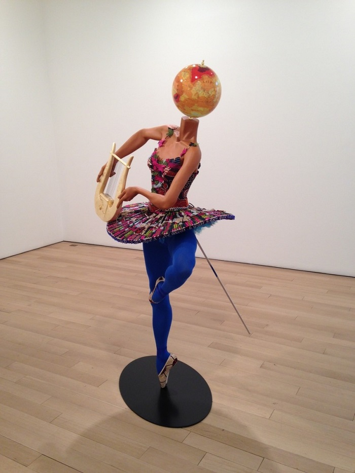 """""""Until the 20 June 2015, Yinka was exhibiting """"Rage of the Ballet Gods"""" in NY at James Cohan Gallery her new body of work, including exuberant, playful sculptures""""  Contemporary art by Yinka Shonibare Yinka Shonibare Ballet God Apollo 20151 e1430935388650"""