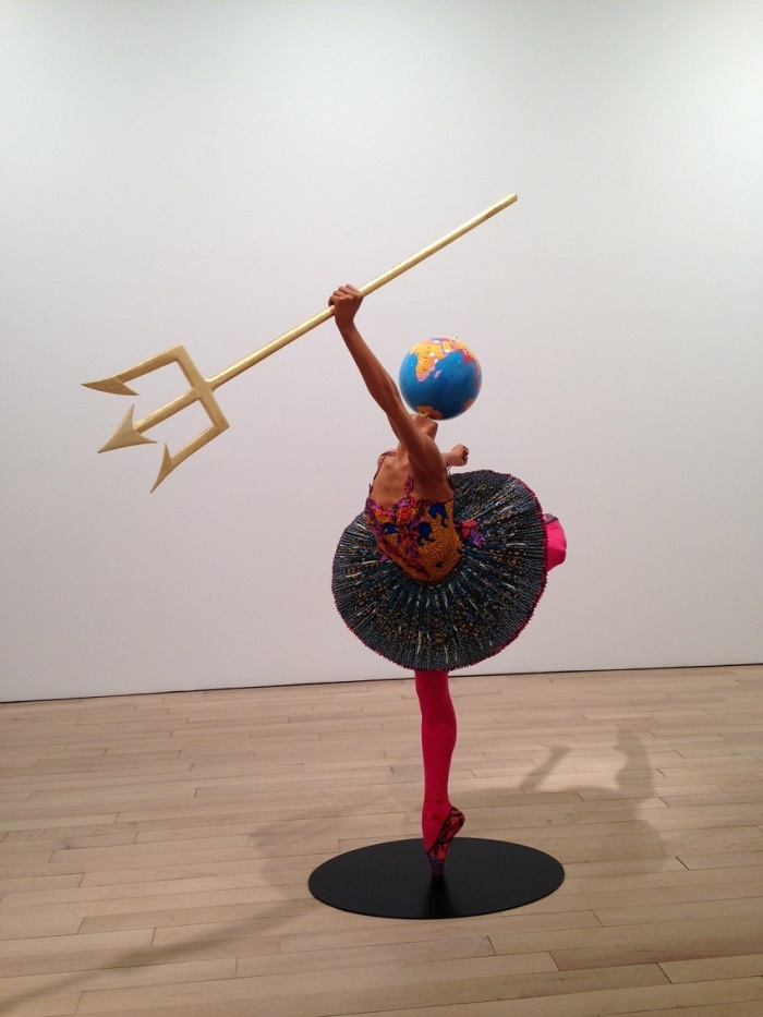 """""""Until the 20 June 2015, Yinka was exhibiting """"Rage of the Ballet Gods"""" in NY at James Cohan Gallery her new body of work, including exuberant, playful sculptures""""  Contemporary art by Yinka Shonibare Yinka Shonibare Ballet God Zeus 2015 e1430935433921"""