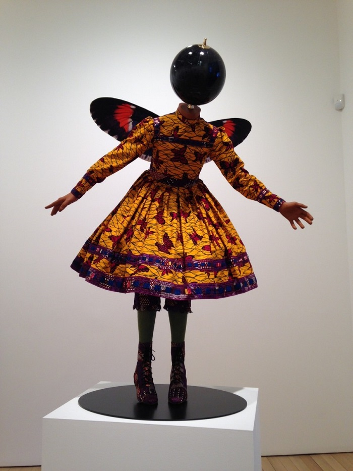 """""""Until the 20 June 2015, Yinka was exhibiting """"Rage of the Ballet Gods"""" in NY at James Cohan Gallery her new body of work, including exuberant, playful sculptures""""  Contemporary art by Yinka Shonibare Yinka Shonibare Butterfly Kid Girl 2015 e1430935579862"""