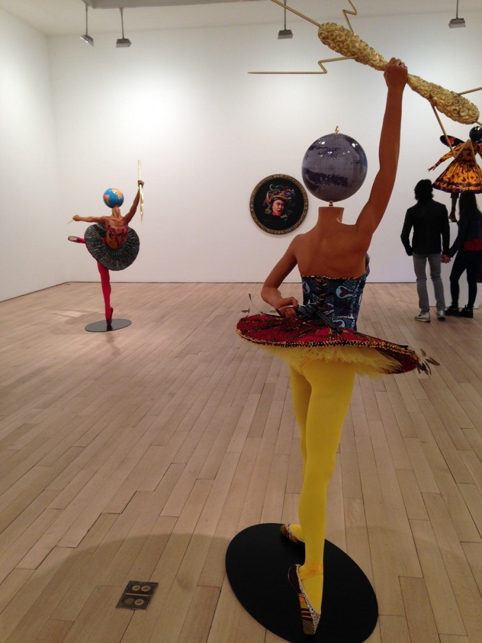 """""""Until the 20 June 2015, Yinka was exhibiting """"Rage of the Ballet Gods"""" in NY at James Cohan Gallery her new body of work, including exuberant, playful sculptures""""  Contemporary art by Yinka Shonibare Yinka Shonibare Rage of Ballet Gods Installation View e1430935483480"""