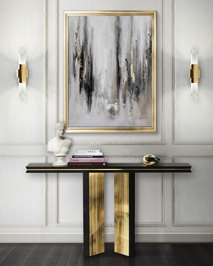 An impressive display of elegance Beyond console luxxumodernlamps shows thehellip