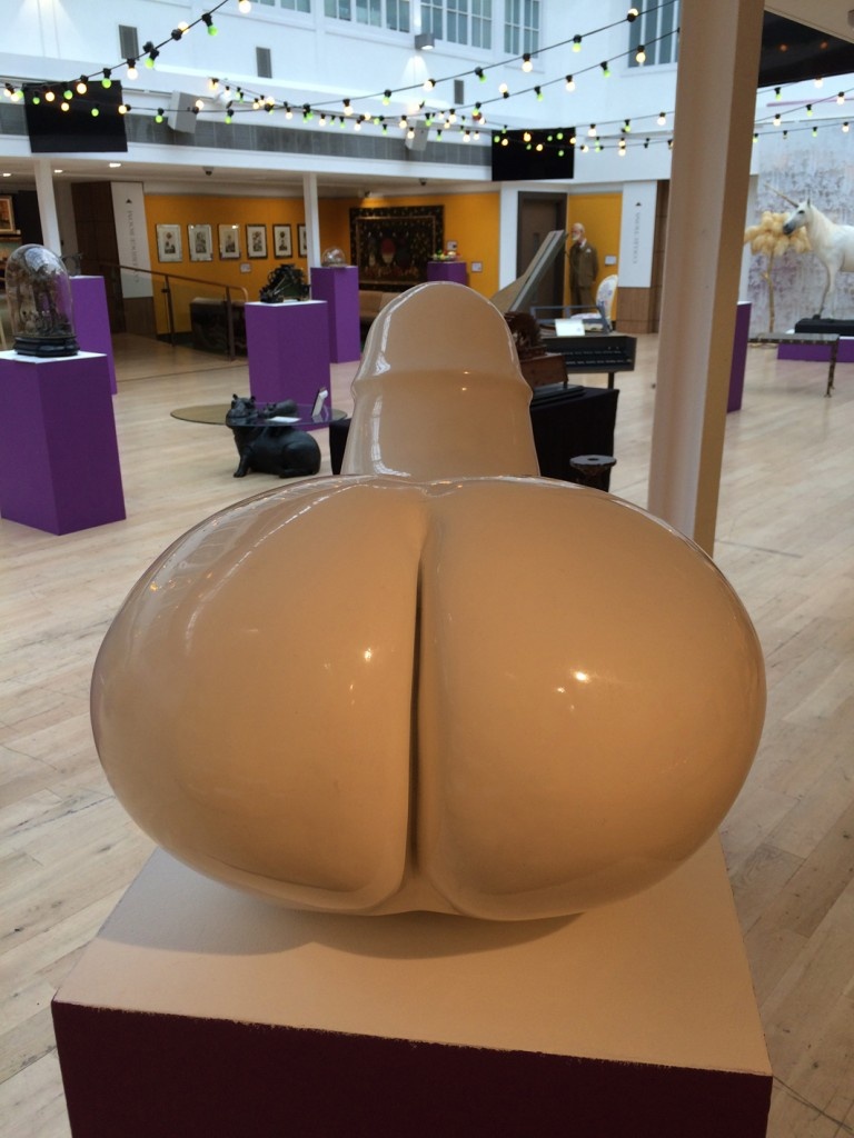 """""""One of the sculptures that will be at auction that most capted our attention is a lacquered fibreglass sculpture entitled """"Rocking Machine""""."""