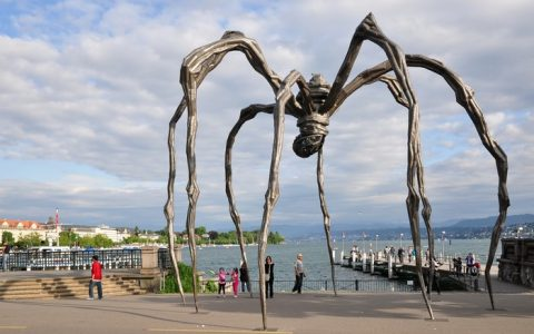 """Louise Bourgeois born in Paris in 1911 and she left a sculpture heritage that won't be forgeted.""  Contemporary art by Louise Bourgeois Contemporary art by Louise Bourgeois artists i lobo you5 480x300"