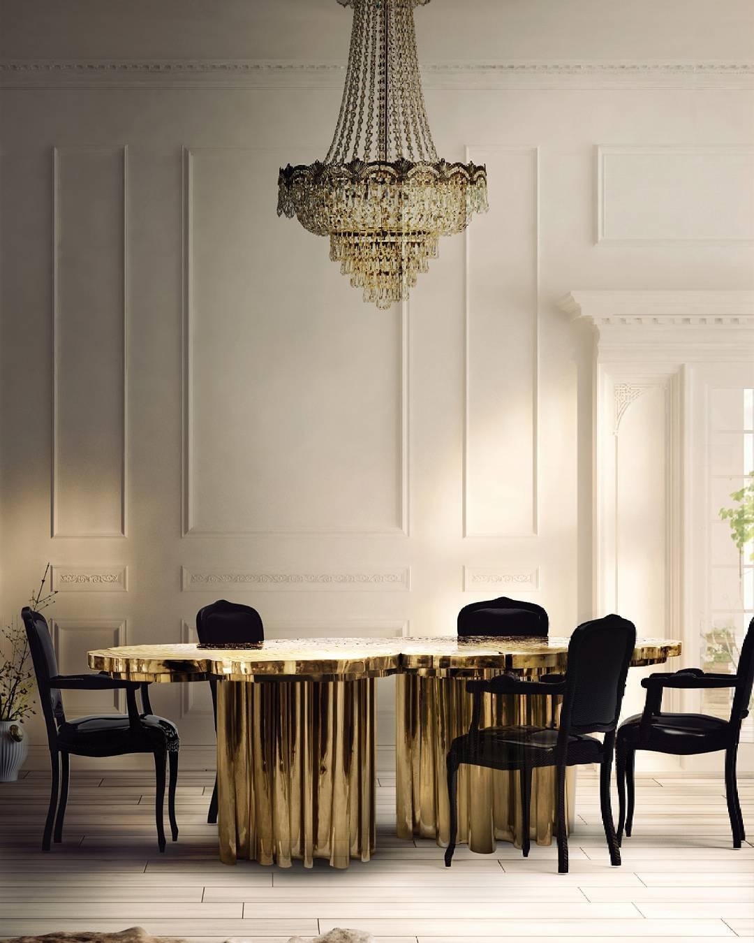 The Fortuna Dining Table is a shimmering statement piece thathellip