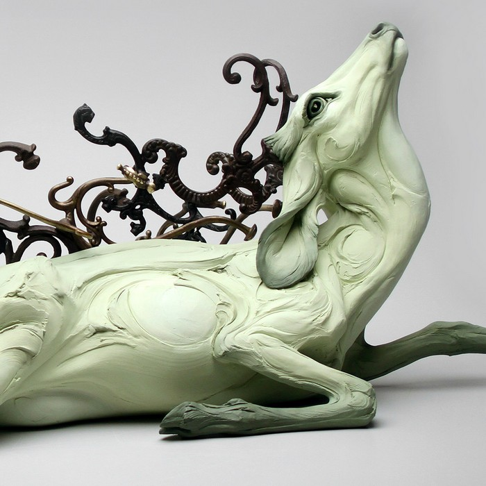 """Contemporary art by Beth Cavener is very strong for the meaning of her animal sculptures.""  Contemporary art by Beth Cavener Contemporary art by Beth Cavener Artists I Lobo you12"