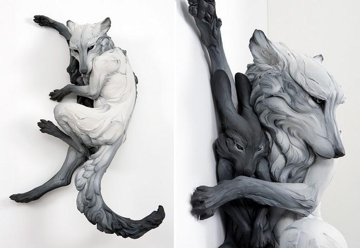 Contemporary art by Beth Cavener- Artists I Lobo you19  Contemporary art by Beth Cavener Contemporary art by Beth Cavener Artists I Lobo you19