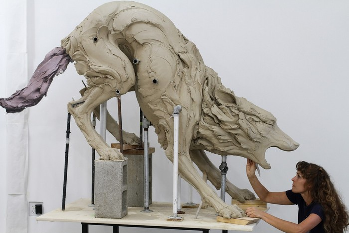 """""""Contemporary art by Beth Cavener is very strong for the meaning of her animal sculptures.""""  Contemporary art by Beth Cavener Contemporary art by Beth Cavener Artists I Lobo you5"""