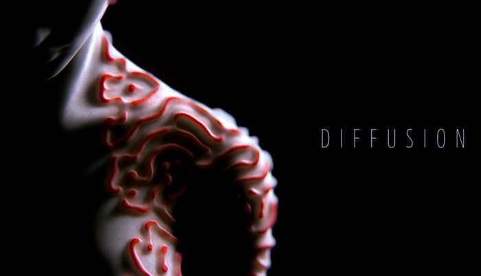 Kouhei Nakama is an art director that lately presented a work called diffusion which is a film that explores what humans look like if they had patterne