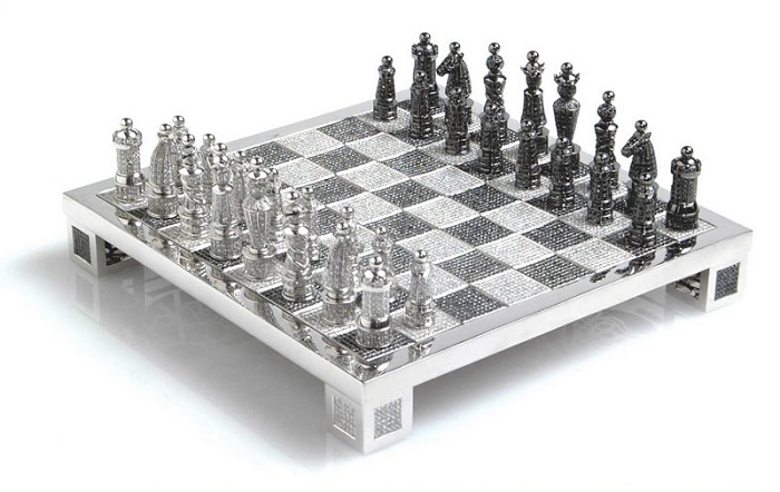 Renowned French artist and master of jewelry, Bernard Maquin created the Royal Diamond Chess which is the most expensive chess set. MOST EXPENSIVE CHESS SET MOST EXPENSIVE CHESS SET IN DIAMONDS MOST EXPENSIVE DIAMOND CHESS SET Limited edition I Lobo you3
