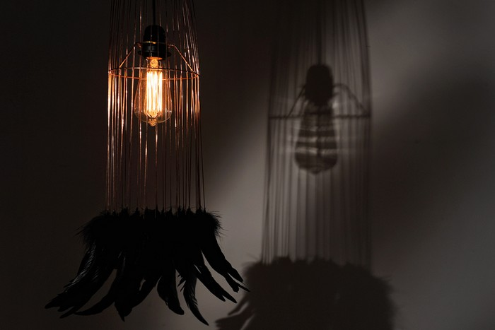 As the light is one of the essential points in each home, the brands are taking exquisite designs to be found at Maison&Objet. Maison et Objet Best Lighting Exhibitors at Maison et Objet 2016 Vega suspension m  tallique et plumes par Plumavera 1