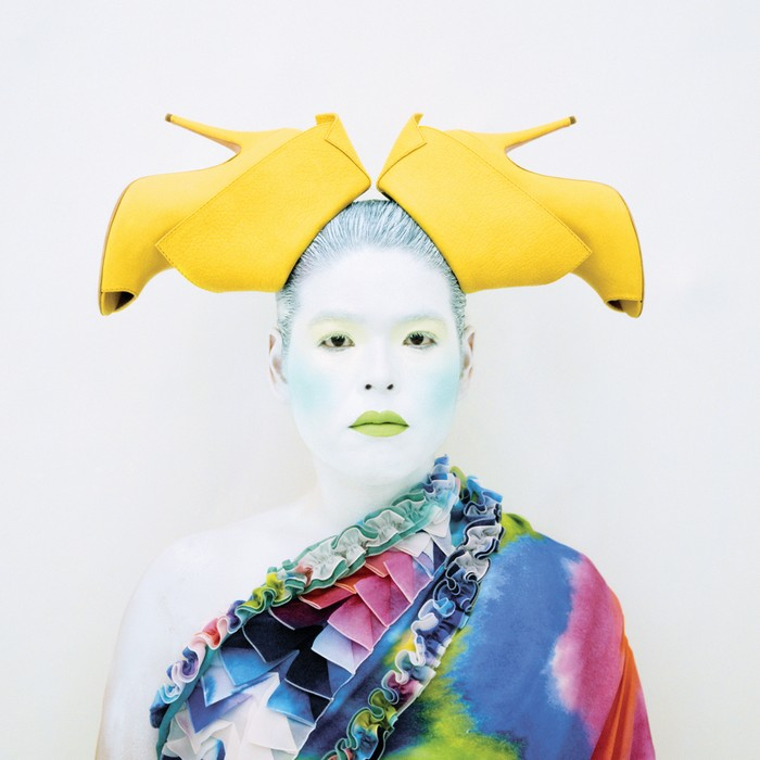 Kimiko has created photos of herself in which she wears elaborate costumes that reference a wide range of subjects