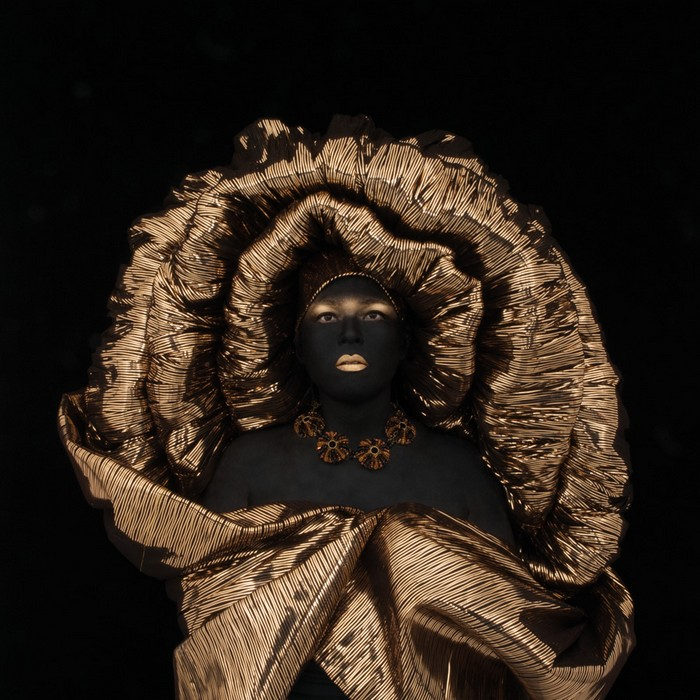 Kimiko Yoshida has created photos of herself in which she wears elaborate costumes that reference a wide range of subjects