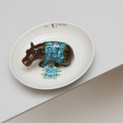 Hella Jongerius meticulously crafted by hand and designed these animal-filled porcelain bowls for a commission by Nymphenburg.
