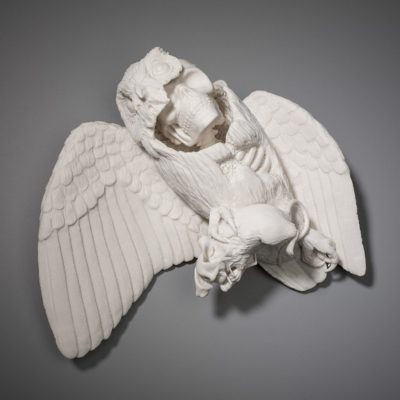 Kate McDowell delicate crafted porcelain sculptures with some bizarre forms.