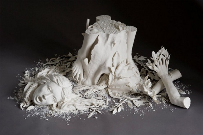 Kate McDowell delicate crafted porcelain sculptures with some bizarre forms. porcelain sculptures Kate McDowell bizarre porcelain sculptures Kate McDowell bizarre porcelain sculptures artists I Lobo you9