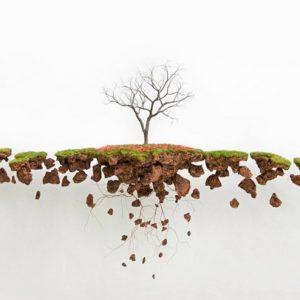 Landscape wall sculptures by Jorge Mayet