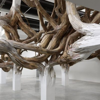 Art wood installations by Henrique Oliveira