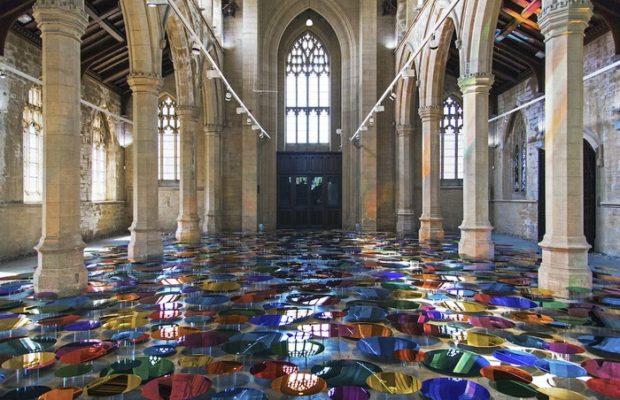 Artistic church filled with Luminous Art
