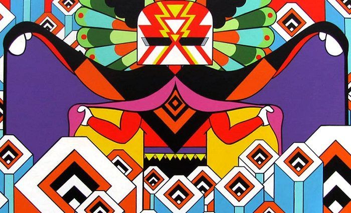 Spencer Hibert is an American artist with a very distinguish art style that we could describe as Psychedelic designs.