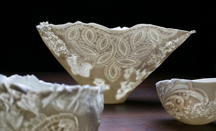 Claudia Biehne is a German artist that produces artistically crafted porcelain. She says that the possibilities that it offers a designer are inexhaustible.