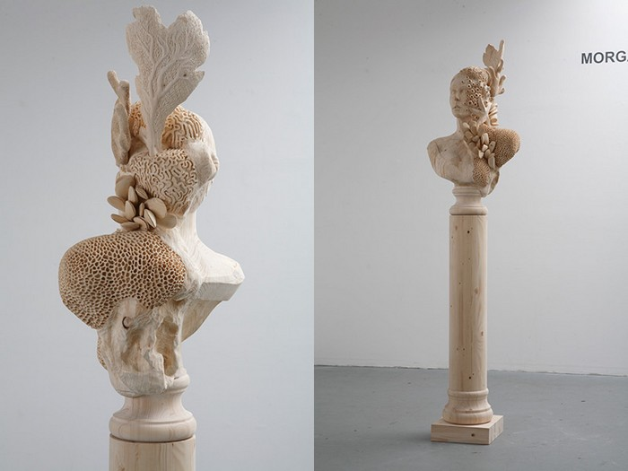 Morgan Herrin is an artist based in Richmond that transforms the material used in fantastic wooden sculptures.