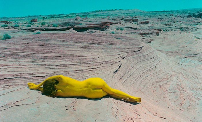 Shae DeTar grew up between Pennsylvania and New York City. She creates otherworldly nude photography prints combining photography and painting.