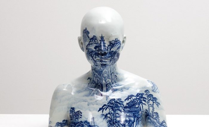 Chinese artist Ah Xian has explored aspects of the human form using ancient Chinese craft methods to create porcelain busts.