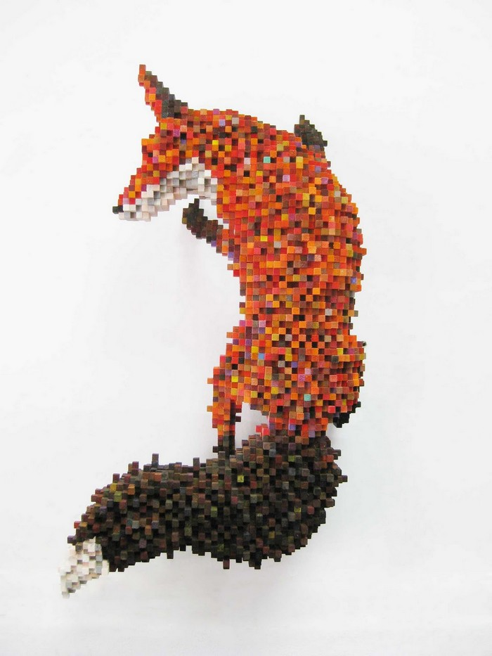 In his life-sized sculptures of animals, Shawn Smith filters the natural world through digital systems creating pixelated animal sculptures. animal sculptures Pixelated animal sculptures by Shawn Smith Pixelated animal sculptures by Shawn Smith arts and crafts I Lobo you5
