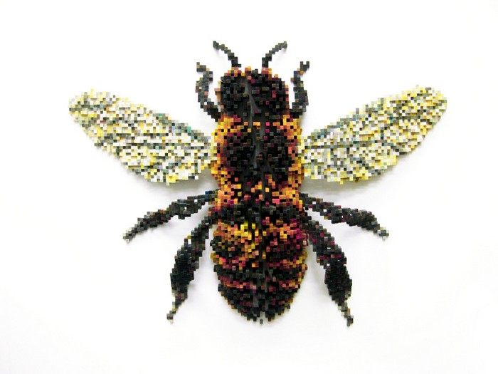 animal sculptures Pixelated animal sculptures by Shawn Smith Pixelated animal sculptures by Shawn Smith arts and crafts I Lobo you9