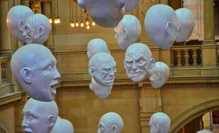 Sophie Cave was the creator of hanging heads installation at Kelvingrove Art Gallery and Museum.