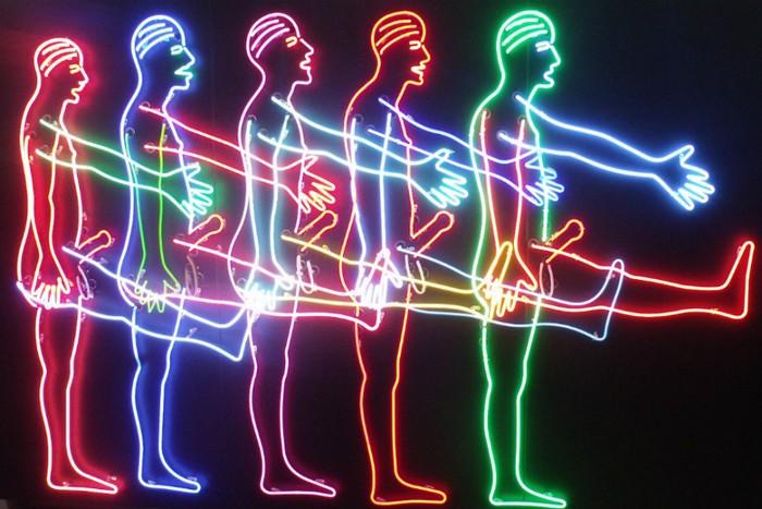 Neon art by bruce nauman for Minimal art neon