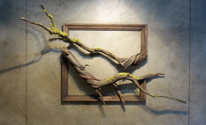 We recognize Darryl Cox as the artist that creates art inspired on tree branch, most properly, artistic branch frame.