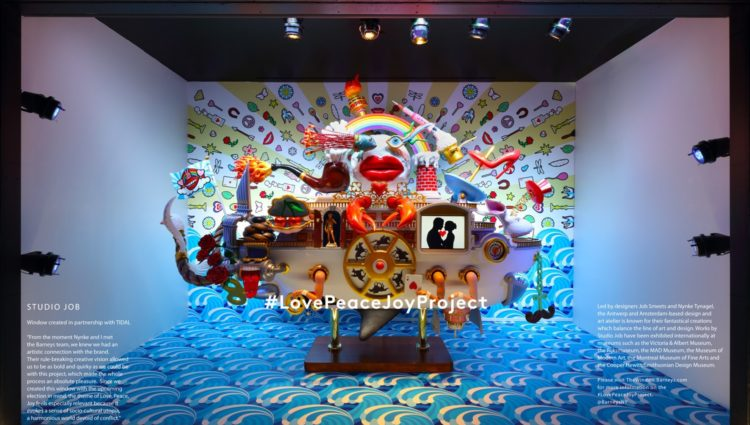 Barneys New York, the luxury specialty retailer, announces the launch of its 2016 holiday: Love Peace Joy Project, in association with many renowned designers.