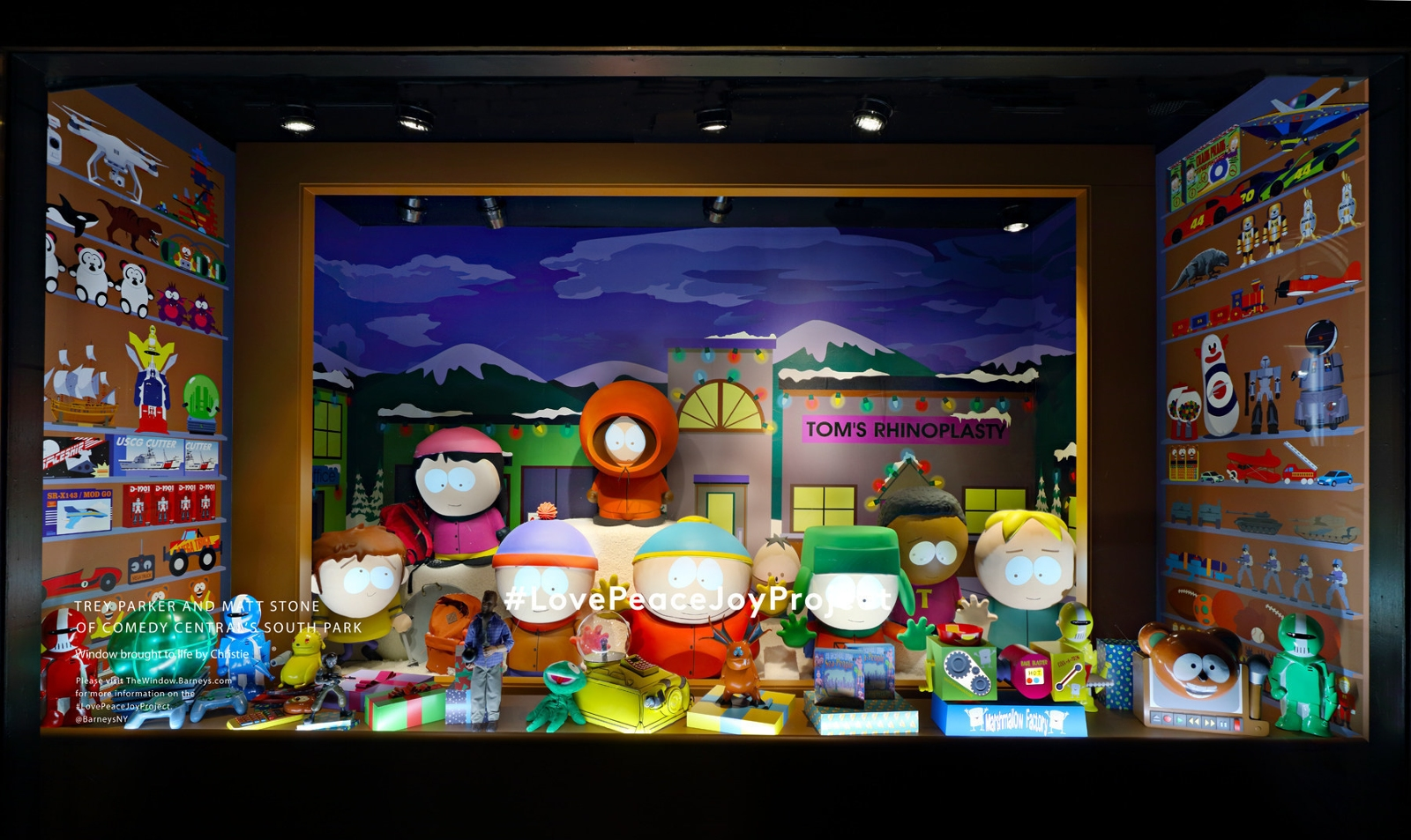 Barneys Barneys New York Madison Avenue Holiday Window Barneys New York Madison Avenue Holiday Window I Lobo youTrey Parker and Matt Stone of Comedy Centrals South Park