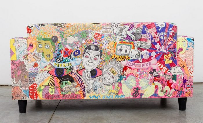 Rob Pruitt is a Pop artist and provocateur that likes to splash around in the narcissistic shallows of visual culture. We focus on his art furniture creations.