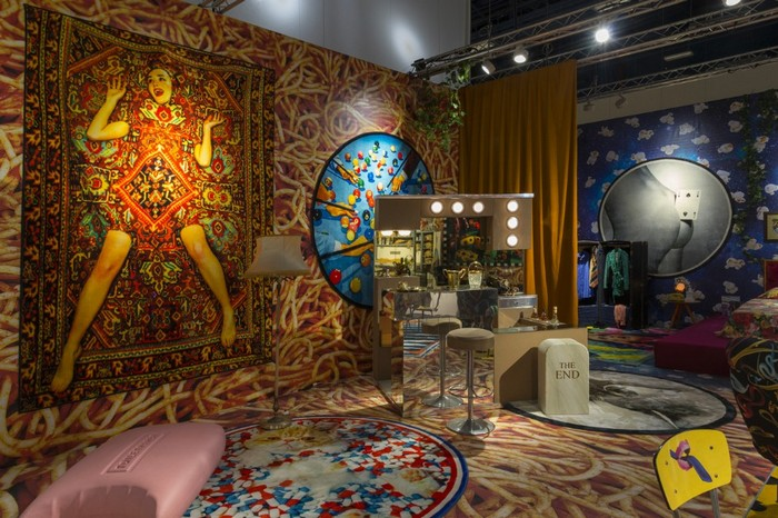 Maurizio Cattelan and Pierpaolo Ferrari, in collaboration with the Italian brand Seletti and Gufram, have transformed the booth at Design Miami 2016. maurizio cattelan Maurizio Cattelan and Pierpaolo Ferrari exhibition Maurizio Cattelan and Pierpaolo Ferrari exhibition artists I Lobo you3