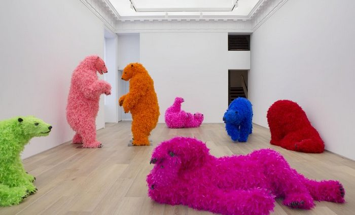 Paola Pivi is an Italian artist which contemporary art consists in sweet and colourful audacious polar bear sculptures.