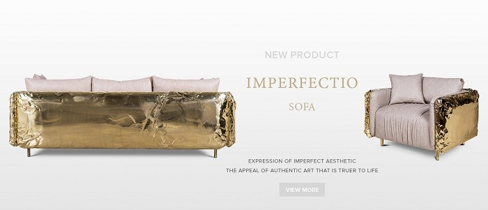 Imperfectio sofa by Boca do Lobo is one of the amazing art furniture pieces designed until today by the brand.