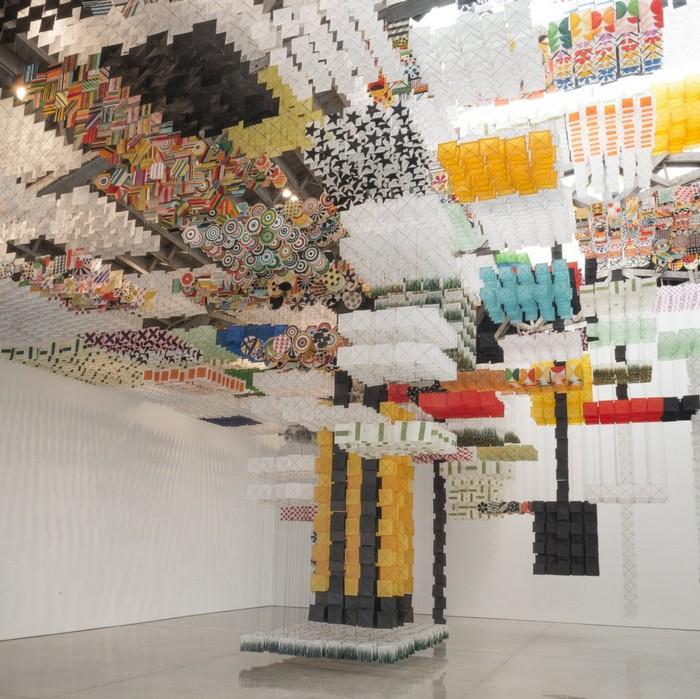 art installation Art installation by Jacob Hashimoto Art installation by Jacob Hashimoto arts and crafts I lobo you11