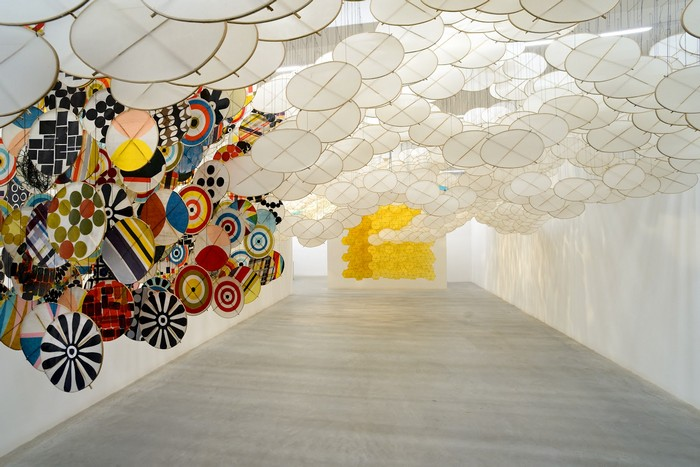 """Jacob Hashimoto is best known for using traditional Japanese methods to create large-scale """"tapestries"""" art installations out of thousands of handcrafted paper."""