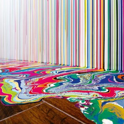 "Known for his colorful ""puddle"" paintings, Ian Davenport has gone to great lengths in the name of experimentation creating colorful art."