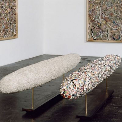 """Hauser & Wirth in New York presents an exhibition of America artist Mike Kelley entitles """"Memory Ware""""."""