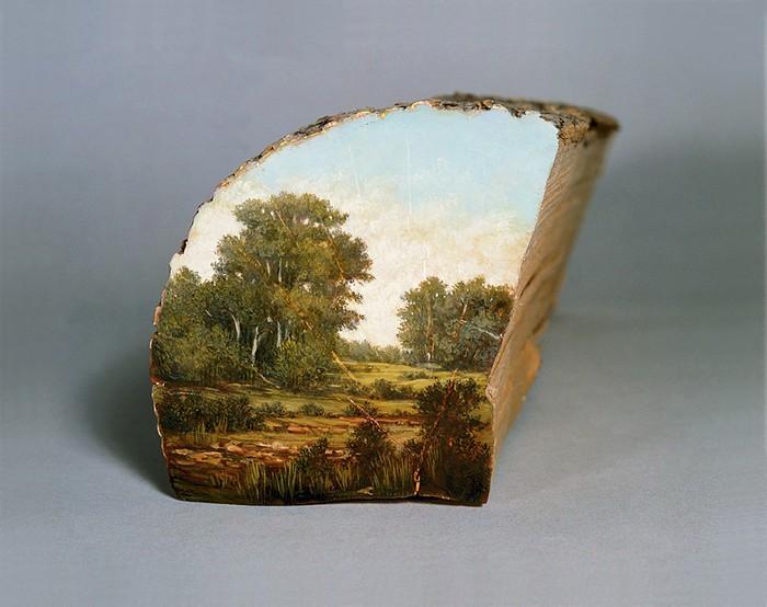 Painted wooden branches Painted wooden branches by Alison Moritsugu Painted wooden branches by Alison Moritsugu     artists I Lobo you9